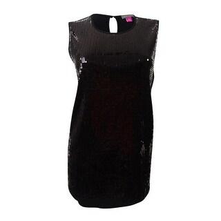 Vince Camuto Women's Sleeveless Sequin Top (S, Black) - Black - s