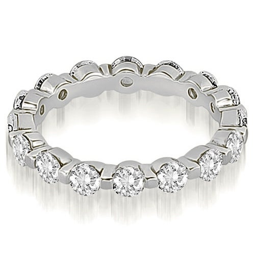 2.40 cttw. 14K White Gold Round Diamond Eternity Ring