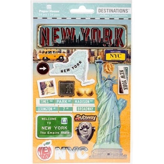 """Paper House 2-D Stickers 7.5""""X4.5""""-Travel New York City"""
