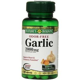 Nature's Bounty Odor-Free Garlic 2000mg, Tablets 120 ea