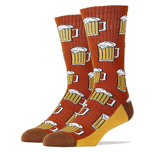 Beer Me! Men's Crew Socks - Brown