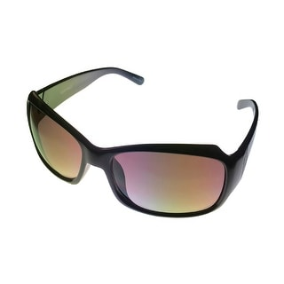 Ellen Tracy Sunglass 511 01 Rectangle Black Plastic Smoke Gradient Lens