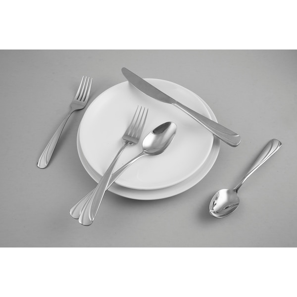Fiesta Deco Circles Sand 20 Piece Flatware Set, Service for 4 - 20 Piece. Opens flyout.