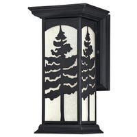 "Westinghouse 6358500 Glenwillow 1-Light 11"" Tall LED Outdoor Wall Sconce with Frosted Glass Shade - Textured Black - n/a"