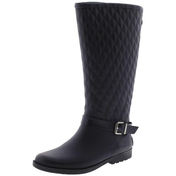 Guess Womens Lulue Rain Boots Quilted Mid-Calf