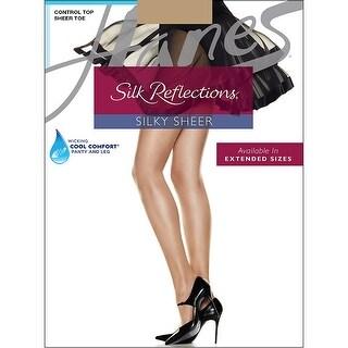 Hanes Silk Reflections Control Top Sheer Toe Pantyhose - ef