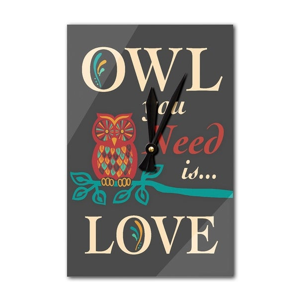 Owl You Need Is Love - LP Artwork (Acrylic Wall Clock) - acrylic wall clock