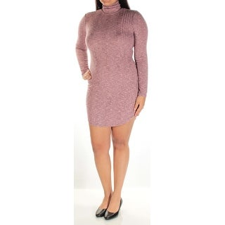 Womens Pink Long Sleeve Mini Body Con Dress Size: L