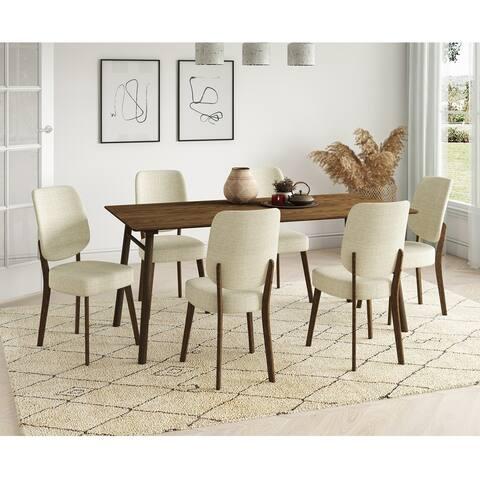 Carson Carrington Janega 7-piece Rectangular Table and Armless Upholsered Dining Chairs