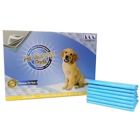 Pets First Premium Training Pads 2018 Version - MOST ABSORBENT Puppy Pads. 100 Count - Large - 100 counts