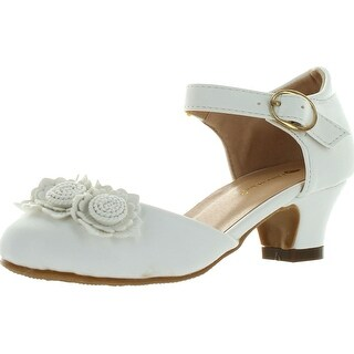 Chase & Chloe Girls Britney-3K Stunning Heels Party Dress Occasion Shoes - White