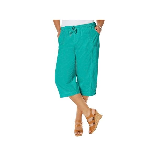2b9b947873a Shop Karen Scott Womens Plus Capri Pants Stretch Elastic Waist - Free  Shipping On Orders Over  45 - Overstock.com - 21259624