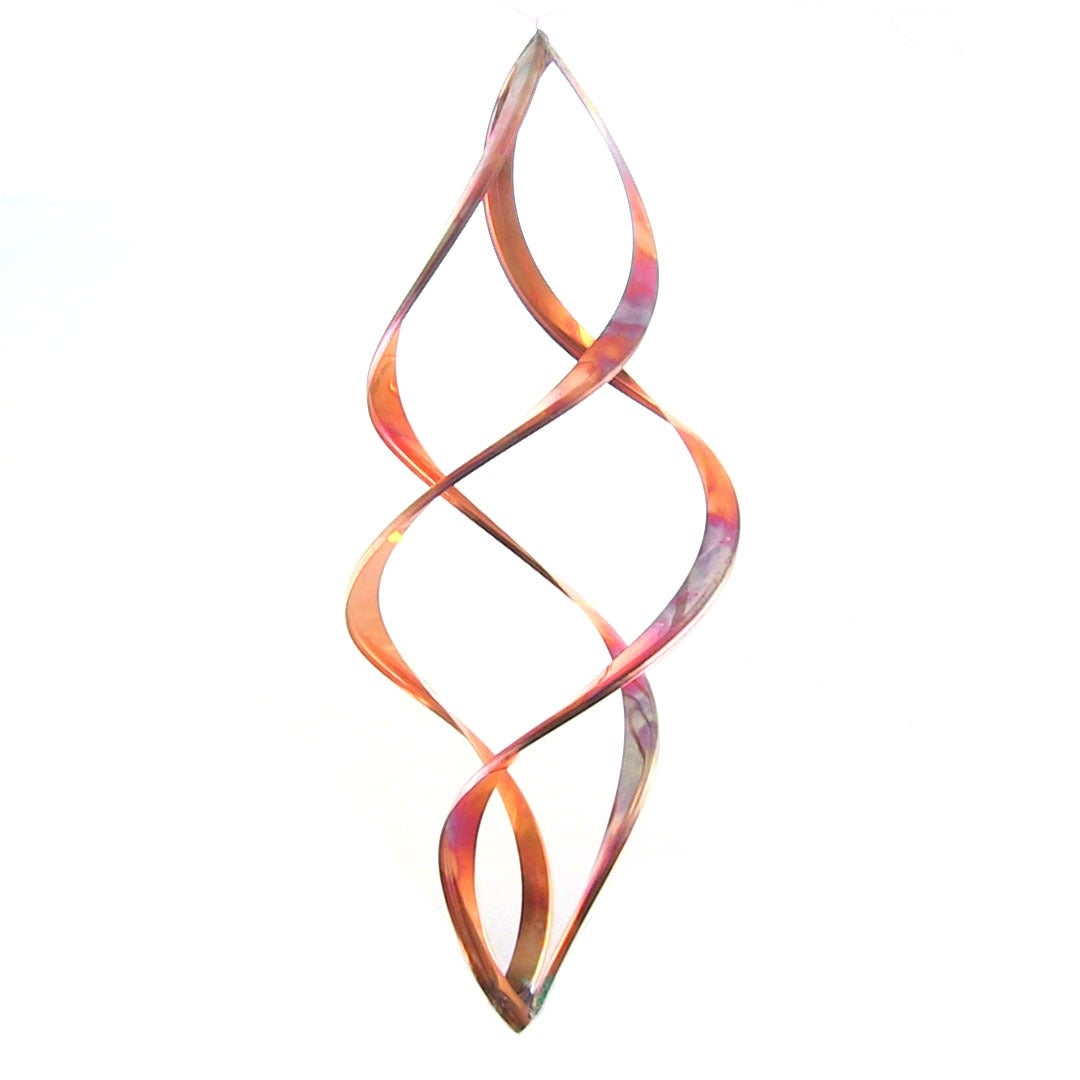 Sunnydaze Infinity Copper Wind Spinner - Multiple Sizes Available - Thumbnail 2