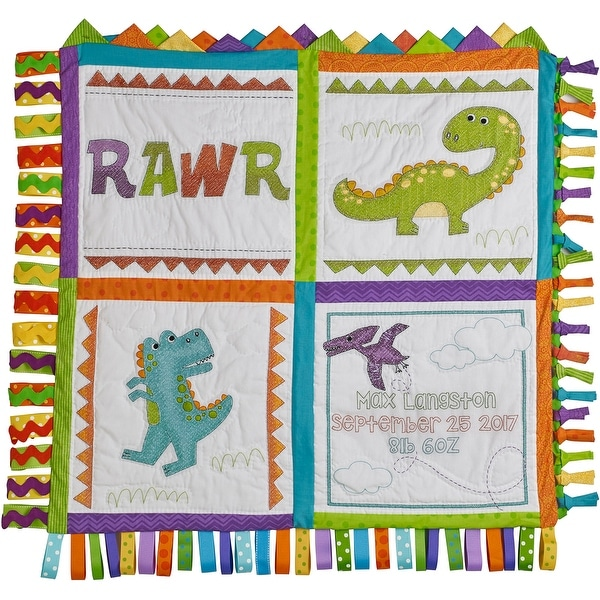Baby Quilt Blocks.Dino Baby Quilt Blocks Stamped Cross Stitch Kit 15 X15 6 Pkg