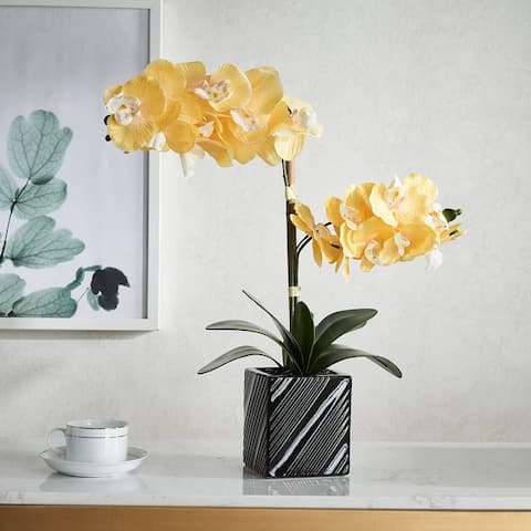 Synthetic Two Stem Orchid