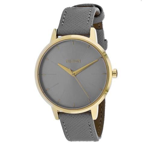 Nixon Women's Kensington Leather Grey Watch - A108-2815 - One Size