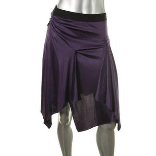 Catherine Malandrino Womens Silk Blend Ruched Asymmetrical Skirt - 4