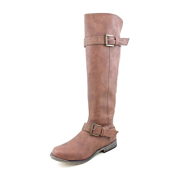 XOXO Womens Brianna Almond Toe Over Knee Fashion Boots - 11