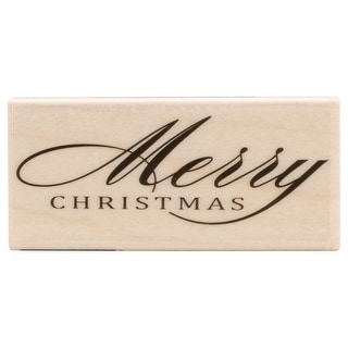 "Hero Arts Mounted Rubber Stamp 2.5""X1.25""-Fancy Merry"