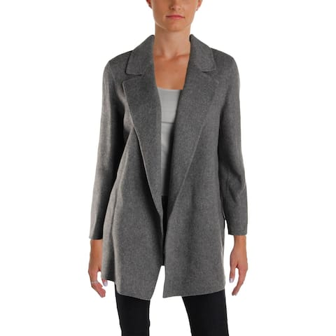 Theory Womens Clairene New Divide Car Coat Winter Wool