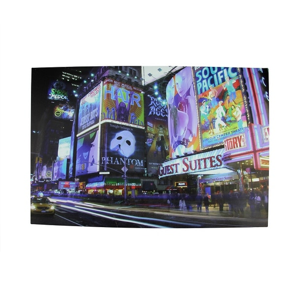 """LED Lighted NYC Times Square Canvas Wall Art 15.75"""" x 23.5"""""""