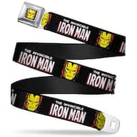 Marvel Comics Iron Man Face Full Color Red Yellow The Invincible Iron Man W Seatbelt Belt