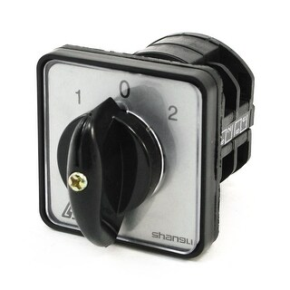 Unique Bargains 660V Ui 10A Ith 1-0-2 ON-OFF-ON Universal Rotary Cam Changeover Switch