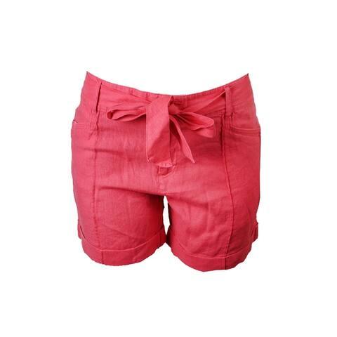 Inc International Concepts Coral Linen Shorts 6
