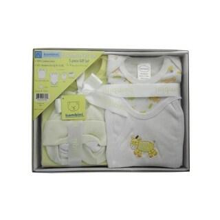 Bambini Yellow 5-Piece Pastel Interlock Boxed Gift Set