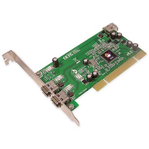 SIIG NN-440012-S8 SIIG 3 Port 1394 PCI i/e Adapter - 2 x 6-pin IEEE 1394a FireWire External, 1 x 6-pin IEEE 1394a FireWire