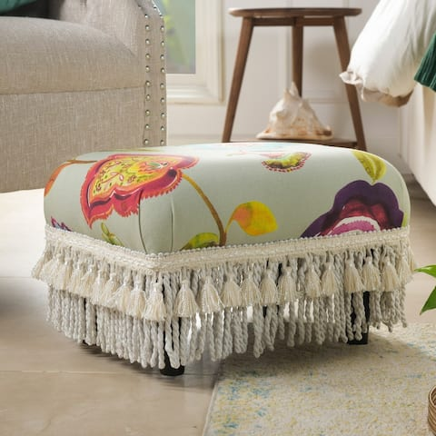 Fiona Traditional Decorative Footstool Ottoman by Jennifer Taylor Home