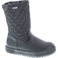 Naturino Girls Quilt Rain Step Waterproof Winter Fashion Boots - Black