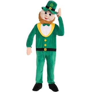 Forum Novelties Promotional Leprechaun Mascot Adult Costume - Green - Standard