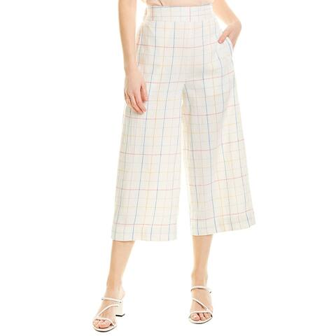 Madewell Linen-Blend Cropped Pant