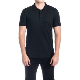 Versace Collection Men's Soft Cotton Polo Shirt Black