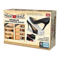 As Seen on TV Shoe Slotz  Space-Saving Storage Units, Limited Edition Price Club 10-Piece Value Pack