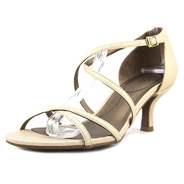 Life Stride Flaunt Women Open Toe Synthetic Gold Sandals