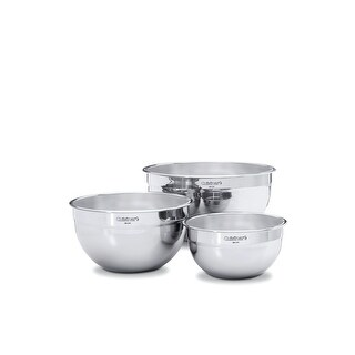 Cuisinart Set of 3 Stainless Steel Mixing Bowls w/o Lids