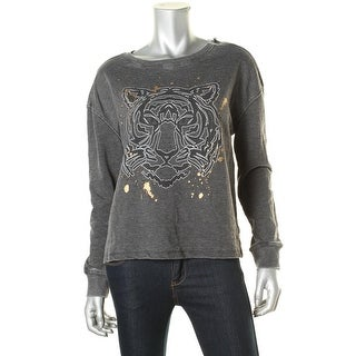 Rampage Womens Juniors Graphic Cotton Pullover Top