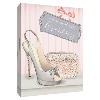 """PTM Images 9-154739  PTM Canvas Collection 10"""" x 8"""" - """"From Emily's Closet IV"""" Giclee Shoes Art Print on Canvas"""