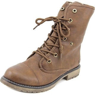 Dirty Laundry RazorBill Women Cap Toe Synthetic Brown Boot