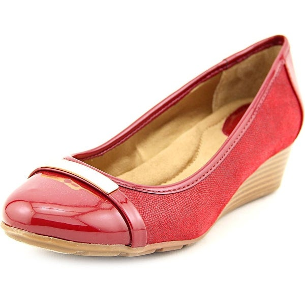Giani Bernini Ambir Open Toe Synthetic Wedge Heel