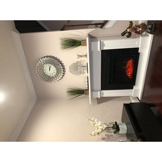Abbyson Radiance Round Wall Mirror Clock