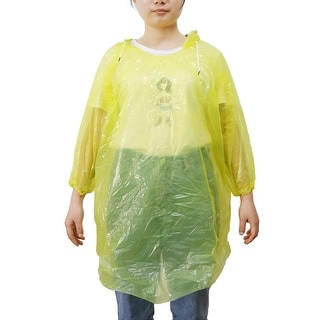 Travel Yellow One Size Adult Disposable Hooded Raincoat Rain Poncho for Children