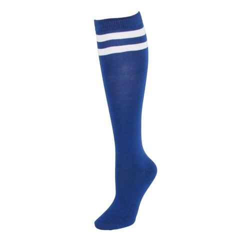 CTM® Women's Striped Top Knee High Socks