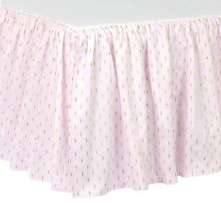 Just Born Sparkle Crib Skirt, Pink