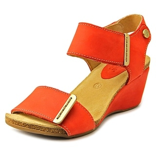 Bussola Style La Habana Wedge Open Toe Leather Wedge Sandal