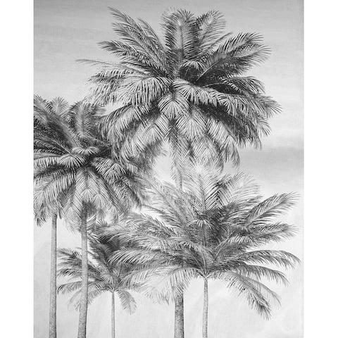 Overcast Palm Wall Mural