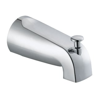 Design House 522912  Wall Mounted Tub Spout with Integrated Diverter for Slip Fit Installation - Polished Chrome