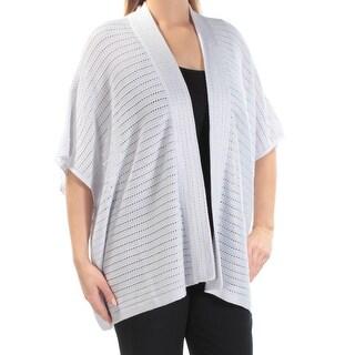 RALPH LAUREN $135 Womens New 1768 Silver Kimono Sleeve Open Cardigan Top L B+B